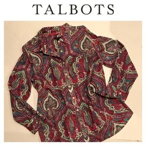 ✳️ Talbots Paisley Blouse